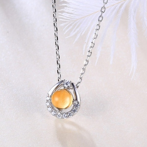yellow crystal necklace