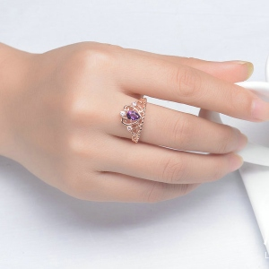 amethyst crown ring for mom