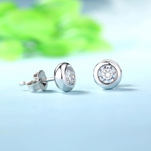 Personalized Gemstone Stud Earrings In Sterling Silver