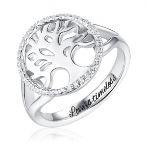 Custom Family Tree Of Life Engraved Ring