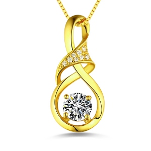 Customized Infinity Birthstone Necklace In Gold