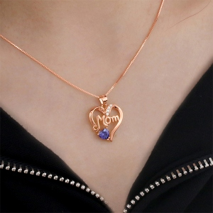 heart necklace for women