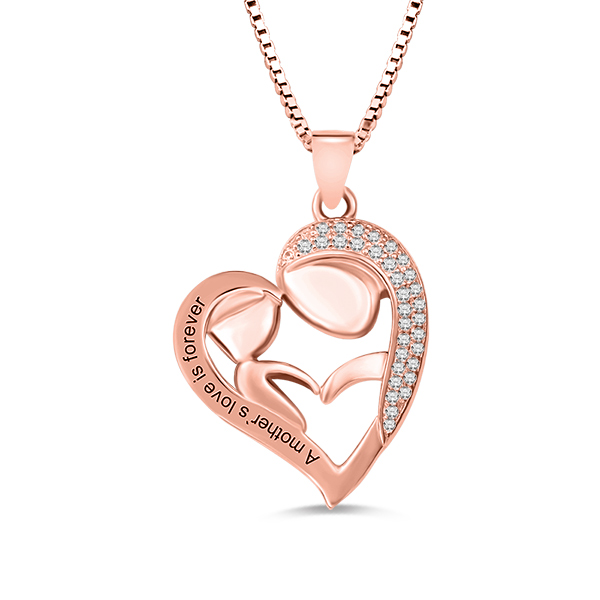 d34ce4598 Personalized Mom And Daughter Necklace In Rose Gold. $ 79.90 $ 39.95
