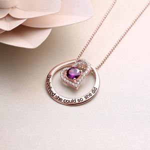circle necklace for mom