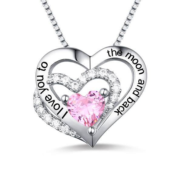 Customized Triple Heart Necklace For Mother's Day Jewelry