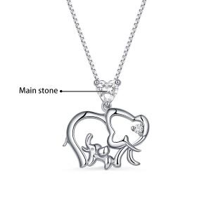 elephant necklace with birthstone
