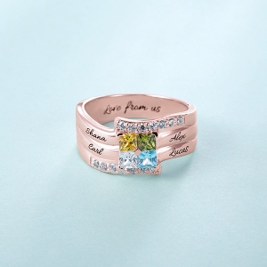 engraved ring for mom