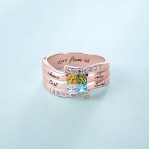 engraved ring for mom