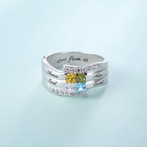Quad birthstone Ring
