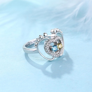 footstep heart ring