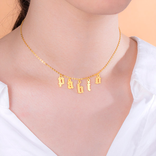 acff5e1cf2738 personalized gothic letter choker necklace sterling silver