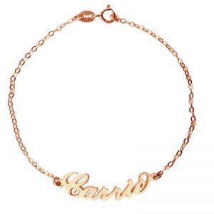 Rose Gold Plated Silver 925 Carrie Style Name Bracelet