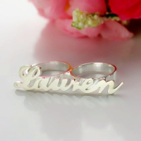 Carrie Style Name Ring