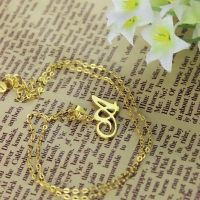 Cheap Initial Necklace