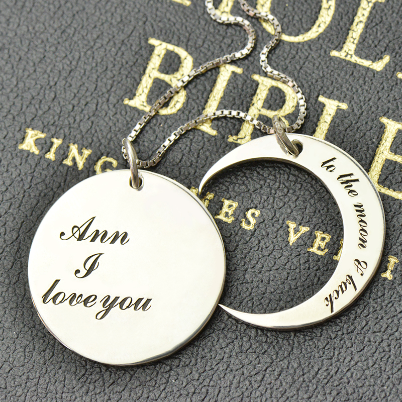 love you to the moon necklaces