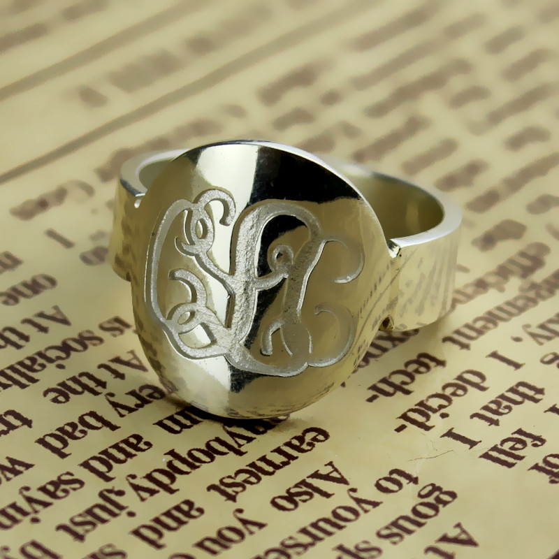 Make Your Own Monogram Initial Ring Sterling Silver