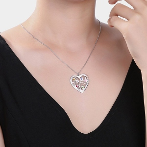 heart Family Tree necklace