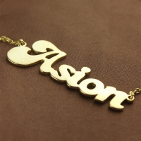 Gold Banana Name necklace