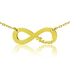 Personalized 18K Gold Plated Infinity Name Necklace
