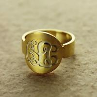 Gold Letter Rings