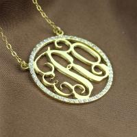 Gold Monogram Initial Necklace