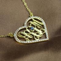 Gold Monogram Jewelry