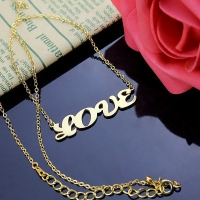 Gold Name Pendant