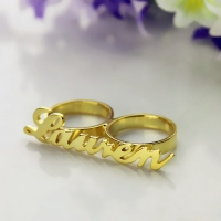 Gold Name Ring