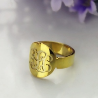 Gold Name Rings