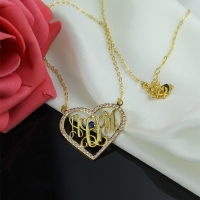 Gold Plated Monogram Initial Necklace