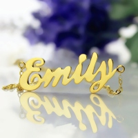 Gold Script Love Necklace