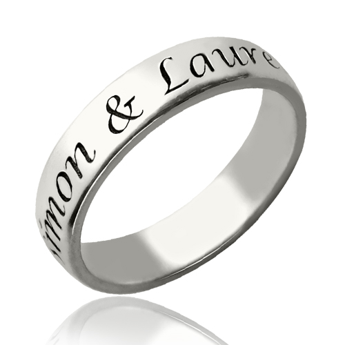 personalized promise name ring sterling silver. Black Bedroom Furniture Sets. Home Design Ideas