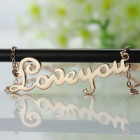 Letter Engraved Necklace