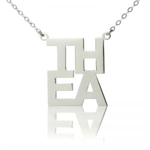 Sterling Silver Letter Name Necklace