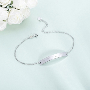Personalisiertes Armband mit Morsecode in Sterlingsilber