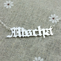 Mens NamePlate Necklace