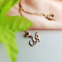 Mom Initial Necklace