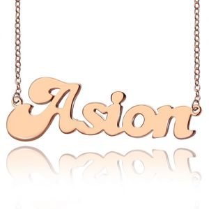 Custom Cute Name Necklace Rose Gold