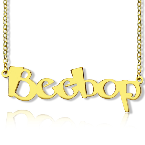 Create your own name necklace 18k gold plated aloadofball Images