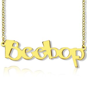 Create Your Own Name Necklace 18K Gold Plated