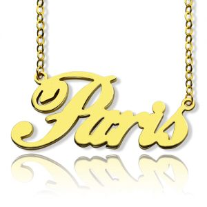 18k Gold Plating Name Necklace