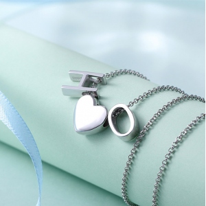 Collier Initial-2 Lettres-Argent