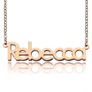 Customizable Rose Gold Rebecca Name Necklace