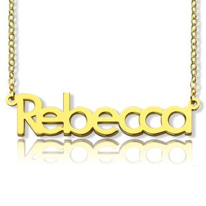 Nameplate Necklace 18K Gold Plating