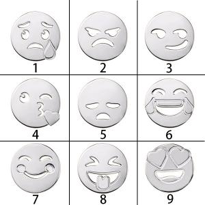 Collier Prénom-Initial et Emoji-Argent Collier mdr