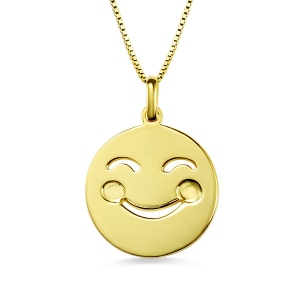 Collier Emoji-9 Types d'Emoji-Plaqué Or