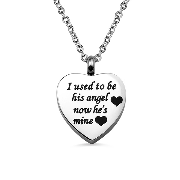 Personalized Heart Shape Stainless Steel Cremation Ash Necklace