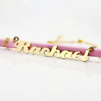 Puff Name Necklace