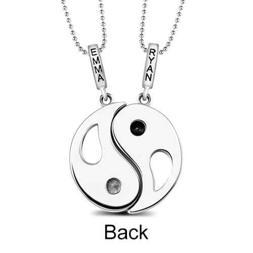b2845799c Custom Yin Yang Necklace with 2 Pendants & Birthstones. $ 99.90 $ 49.95