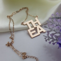 Rose Gold Letter Charm